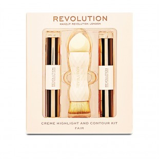 Revolution Crème Highlight and Contour Kit, fair