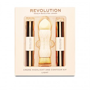 Revolution Crème Highlight and Contour Kit, light