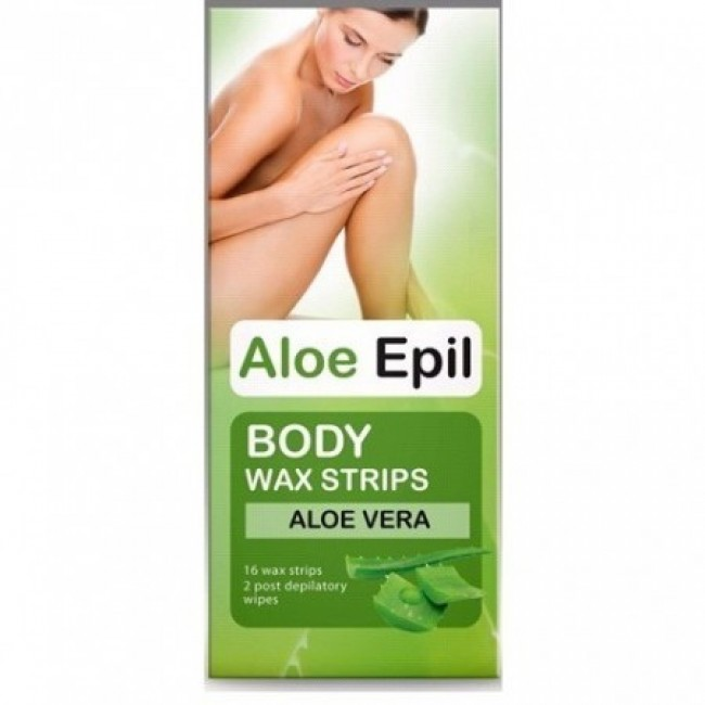 Aloe Epil Body Wax Strips 16tk