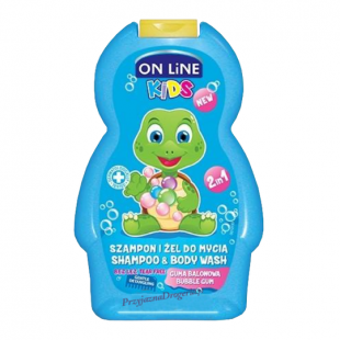 On Line shampoon ja dushigeel bubble gum 250ml