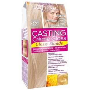 Loreal light pearl blonde juuksevärv 1021