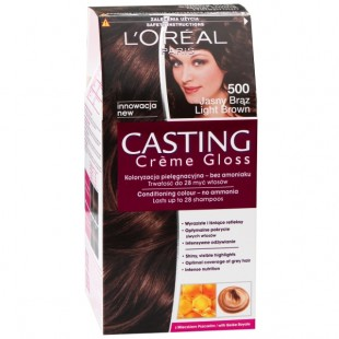 Loreal light brown juuksevärv 500