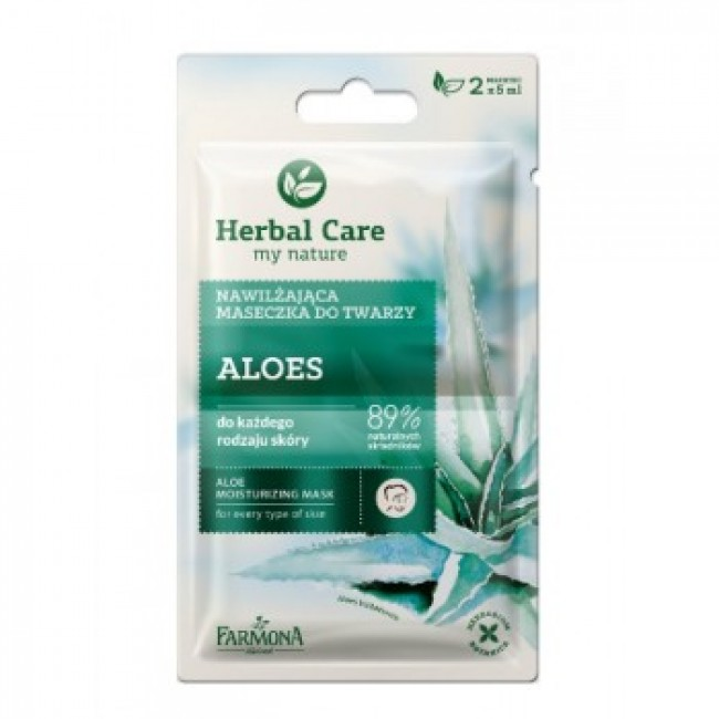 Herbal Care 89% aaloe näomask, 2x5ml.